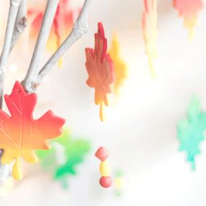 Herbstblätter aus FIMO modellieren